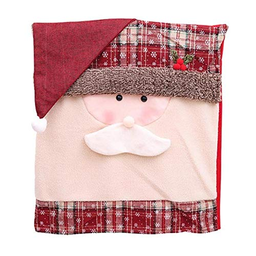 LLAAIT Christmas Chair Cover Santa Claus Snowman Decorations for Home Chair Back Cover Xmas Table Decoration Home Accessories