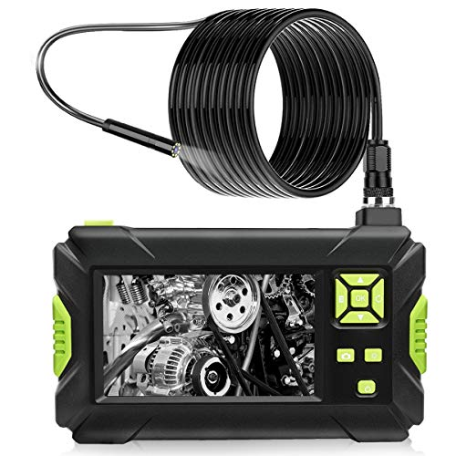 Industrial Endoscope, 4.3 Inch Borescope Inspection Camera Built-in 1080P Display Screen 8 LED Lights, 2600mAh Standard 18650 Battery Handheld Inspection Camera (16.5FT)
