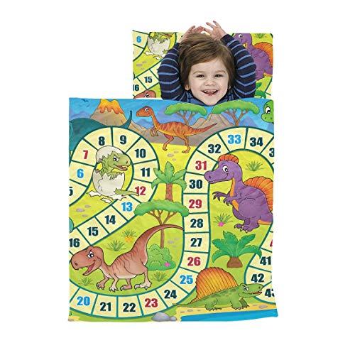 Roll Up Nap Mat für Kleinkinder Brettspiel mit Dinosaurier Thema 1 Eps10 Vector Il Travel Schlafsäcke Weiche Mikrofaser Leichte Nickerchen Matten für Kleinkinder Perfekt für Vorschule, Kindertagesstä
