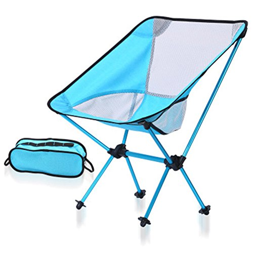 YAOBAO Camping Stuhl, Camping Stuhl Compact Ultralight Portable Folding Backpacking Stühle mit Tragetasche, Blau