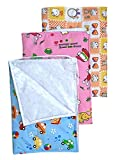 BABY ATLAS Soft Plastic and Cotton Nappy Changing Mat Sleeping mats Waterproof Bed
