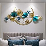 3D Metal Wall Art, Creative Handmade Ginkgo Leaves, Nature Home Art Decoration and Modern Light Luxury Gifts for Study/Living Room/Bedroom/Artwork/hotel