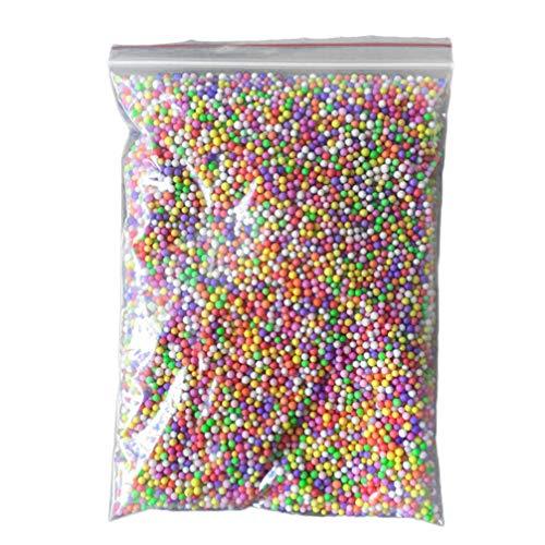 EXCEART 1 Borsa Perline di Schiuma di Natale Polistirolo Polistirolo Palline Perline Mini Palline di Schiuma Produzione di Melma Perline di Schiuma per Artigianato Fai da Te Regali di