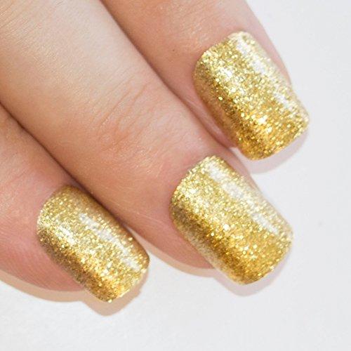 Art bling Gel faux ongles manucure française Or Moyen Conseils UK