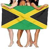 Tcerlcir Strandtuch Badetuch Saunatuch Duschtuch Ultra Leicht Handtuch Schnelltrocknend Saugfähiges Sporthandtuch Flagge von Jamaika 130X80cm