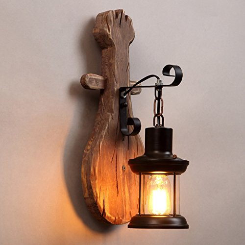 Adelaide - style américain rétro lampe murale en bois massif vent industriel personnalité créative chandelier salle à manger couloir chambre à coucher lampe décorative murale