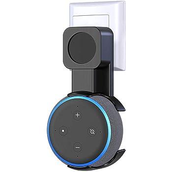 per  Echo DOT Rikey Supporto per Montaggio a Parete Echo DOT 3 Nero, Bianco 3a Generazione Supporto a Parete Supporto per Supporto per Alexa Echo DOT