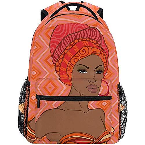 Bag voor dames en heren, Afrikaanse school, met oorbel voor heren, reizen, voor school van Teens