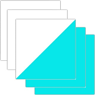 Glow in Dark HTV Sheets Iron-on Heat Transfer Vinyl for T-Shirts Apparel 12 Inches x 12 Inches Pack of 5 (Blue)