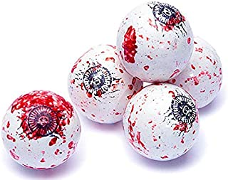 Bloody Spooky Eyes Eyeballs Halloween Gumballs Candy - 1 Pound Approximately 60 Gumballs Kosher Certified
