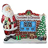 Design Toscano DB477697 Santa's Countdown to Christmas Digital Display LED Light Statue with Music, 41 Inch, Full Color
