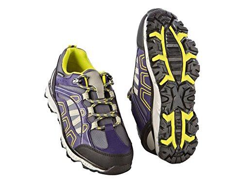 Crivit Damen Trekkingschuhe Wanderschuhe Trekking Schuhe Atmungsaktiv Wasserdicht (37, Violett-Gelb)