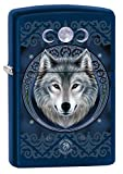 Zippo Lighter: Anne Stokes Wolf - Navy Matte 79590