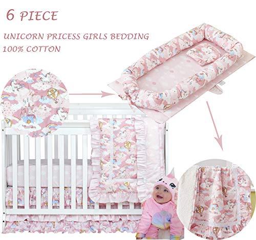 Buy Discount Brandream Unicorn Crib Comforter Set, Princess Unicorn Girls Baby Nest Bed Newborn Infa...