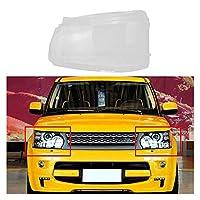 ヘッドライトランプカバー 車のフロント左ヘッドライトレンズヘッドランプシェードクリアカバーフィット感のためのランドローバーレンジローバースポーツ2010-2012自動車のヘッドライトカバー (Color : As pic)