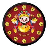 Sijoo Fortuna Wanduhr, Business Lucky Feng Shui Glücksgott Uhr, Stummschaltung speichern, Wanduhr, Wohnzimmeruhr