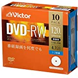 ビクター(Victor) くり返し録画用 DVD-RW VHW12NP10J1  (片面1層/1-2倍速/10枚)