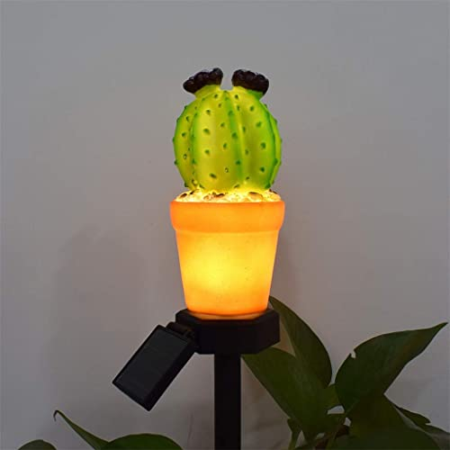 high quality Solar Garden outlet online sale Stakes Cactus Lights Outdoor Yard high quality Decor Garden Stake Waterproof Yard Patio Decoration LED Light Home Party Festival Decorative Light, Cactus with Flower outlet sale