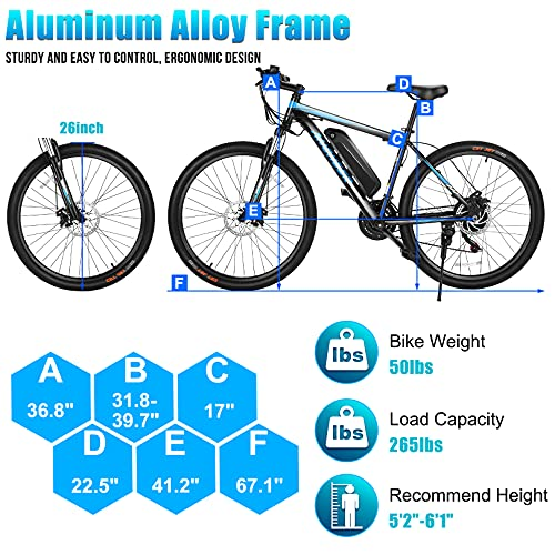 51QAjwvqmGS。 SL500ANCHEER電動自転車電動マウンテンバイク