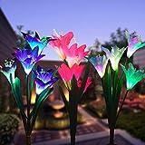 Wohome Outdoor Solar Garden Stake Lights,3 Pack Solar...
