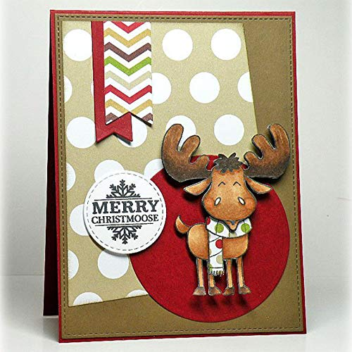 Merry Christmoose Transparent Clear Silicone Stamp Set for DIY Scrapbooking/Photo Album Cards Making Decorative Clear Stamps 4x6