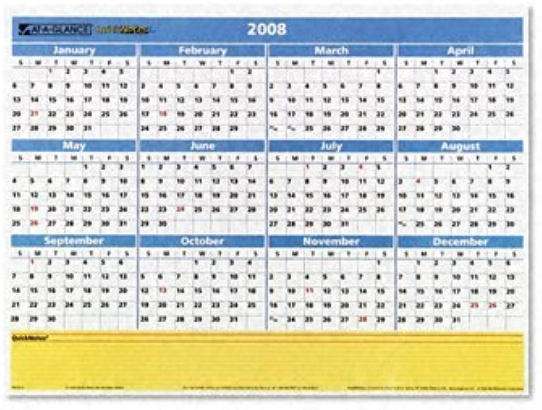 Einen Blick QuickNotes eintragen WEGWISCHEN Monatliche Monatliche Monatliche Jährliche Wandkalender, 40,6 x 32,4 cm (pm550b-28) durch einen Blick B016Z4PCTI   Hat einen langen Ruf  df9670