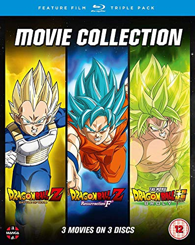 Dragon Ball Movie Trilogy (Battle Of Gods, Resurrection F , Broly) [Blu-ray]