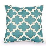 Aiserkly - Federa decorativa per cuscino, in cotone e lino, quadrata, resistente allo sporco, 45 x 45 cm, cotone lino, B, 45cm*45cm/18*18'