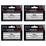 Ardell False Eye Lashes Faux Mink Individuals Short Black 4 Pack