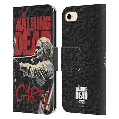 Offizielle AMC The Walking Dead Carol Staffel 10 Darsteller Portraits Leder Brieftaschen Handyhülle Hülle Huelle kompatibel mit Apple iPhone 7 / iPhone 8 / iPhone SE 2020