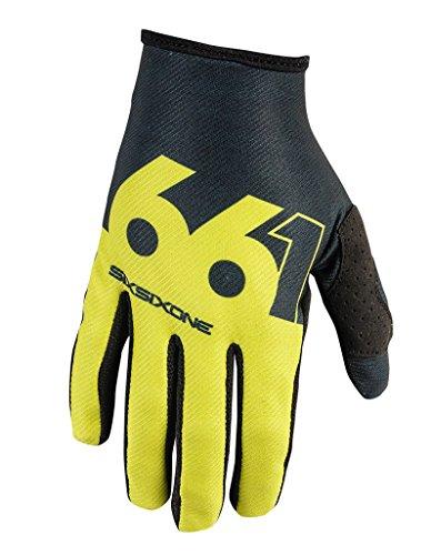 SixSixOne Comp Slice Handschuh, chartreuse/black, L