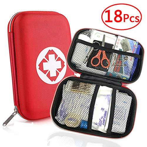 Th-some JAANY Botiquín de Primeros Auxilios de artículos, Survival Tools Mini Box Kit Bolsa Médica para Emergencias para el Coche, Hogar, Camping, Caza, Viajes, Aire Libre o Deportes