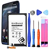 Motorola Droid Turbo Battery, (Upgraded) SHENMZ 4200mAh Li-Polymer Replacement Battery SNN5949A for for Motorola Droid Turbo EQ40 XT1254 XT1225 XT928 XT885 with Screwdriver Tool Kit [24 Months Warr]