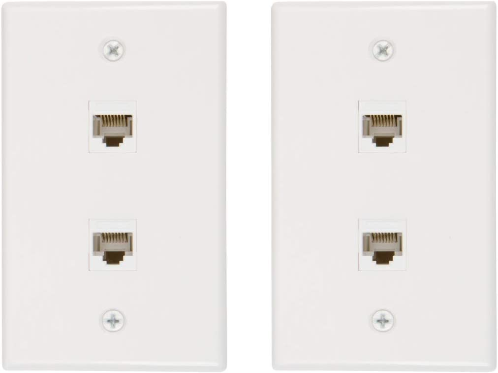 Buyer's Point 4 years 2021 spring and summer new warranty 2 Port Cat6 Female-Female Ethernet Whi Plate Wall