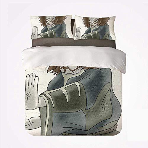 Bettbezug-Set mit modernem Dekor