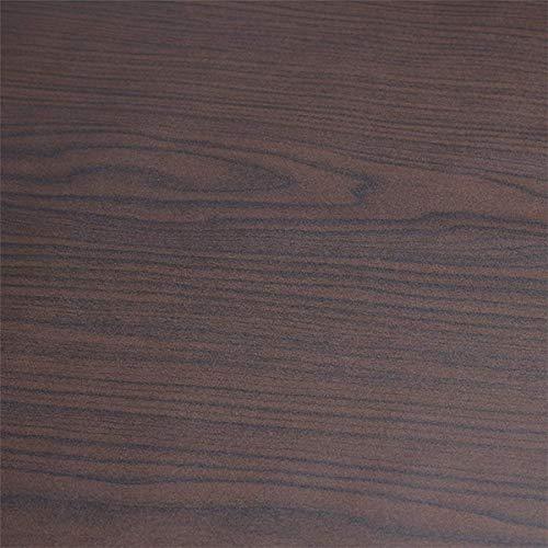 Art3d 17.7'x78.7' Peel and Stick Wallpaper - Decorative Self Adhesive Vinyl Film Wood Grain Wallpaper for Furniture Cabinet Countertop Shelf Paper, Black Walnut