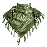 FREE SOLDIER 100% algodón Militar táctica Shemagh Desierto Keffiyeh Bufanda Wrap para Hombres y Mujeres(Camuflaje Verde)