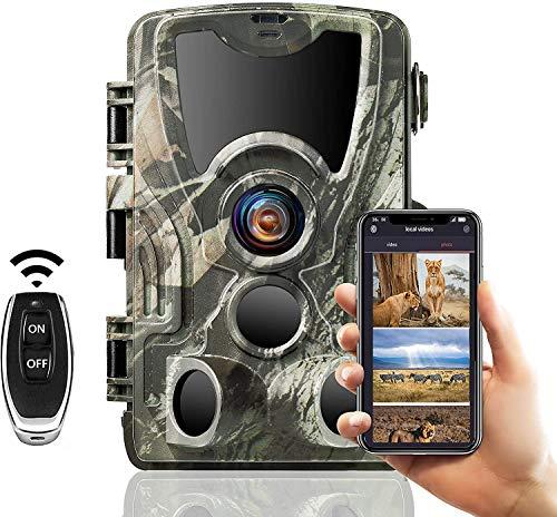 SUNTEKCAM Fotocamera Caccia Fototrappola da Gioco con WiFi, per Fotocamera da Caccia App 20MP 1080P con rilevatore di Movimento per Visione Notturna, infrarossi Schermo da 2,4 Pollici