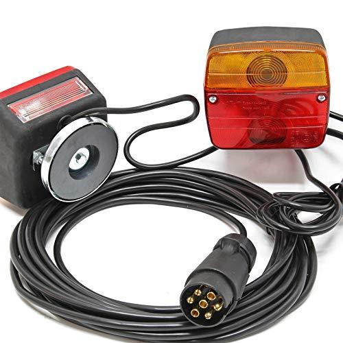 Iluminación trasera para remolque con cable 7,5m de 7 polos y 2 unidades de luz Accesorios remolques