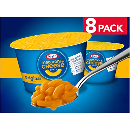 Kraft Easy Mac Original Flavor Macaroni and Cheese (8 Microwaveable Cups)