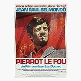 Generic Madman The Pierrot Paul Movie Fou Godard Jean Film