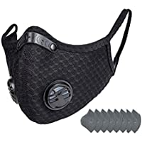 HoweNel 8 Filter Cycling Face Bandanas with 2 Breathing Valve