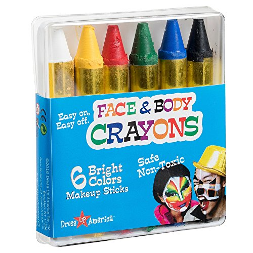 Dress Up America Face Paint 6 Color Crayon - Color Face Paint Ultimate Party Pack