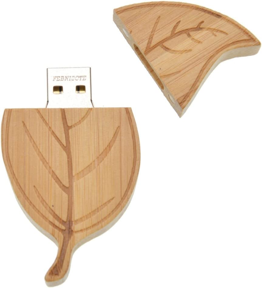USB Flash Drive 8GB Wooden Stick At the price of surprise Leaf Louisville-Jefferson County Mall Memory Thumb 2.0