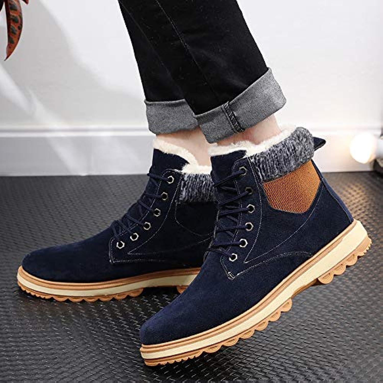 LOVDRAM Boots Men's New New Men'S Snow Boots Warm Fashion Men'S Boots Casual Thick Men'S shoes Martin Cotton Boots