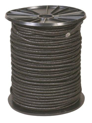 Cao Câble élastique sur Bobine Adulte Unisexe, Noir, 100 m