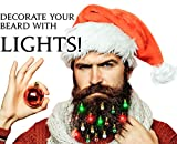 Beardaments Beard Lights - The Original Light Up Beard Ornaments, 16pc Colorful Christmas Facial Hair Baubles for Men in The Holiday Spirit with Clip for Easy Beard Attachment