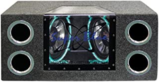 1000W Dual Bandpass Speaker System – Car Audio Subwoofer w/ Neon Accent Lighting,..