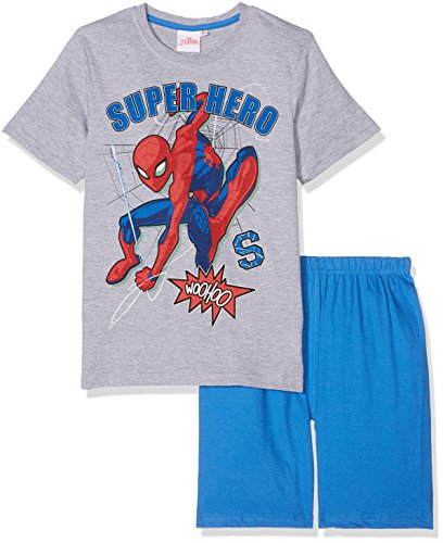 Spiderman Jungen Shorty-Pyjama - grau (116)