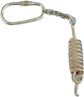 "Hampton Nautical K-279 Solid Brass Close Band Rope Key Chain 5"" Nautical Home Decoration"